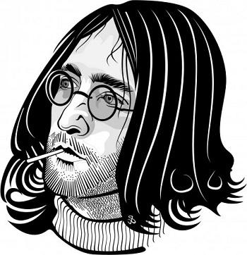"""Was steckt hinter der Zigarette? Bild oben piqs.de, Vectorportal, """"Hippie Face Vector Portrait"""" (CC BY 2.0 DE)"""