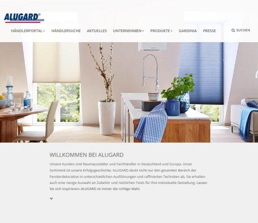alugard startseite gardinia home decor alugard isny im allg u. Black Bedroom Furniture Sets. Home Design Ideas