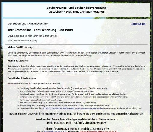 Baugutachter Dresden bauberatungs und bauhandelsvertretung dipl dipl dresden