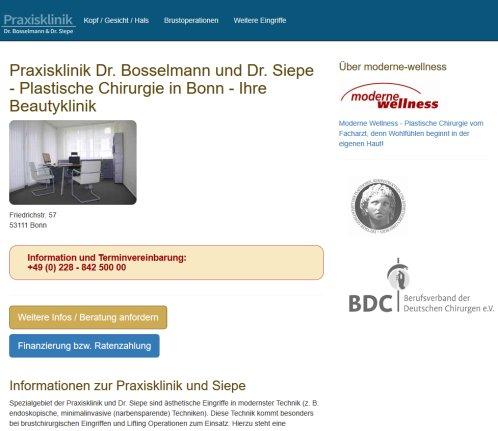 Praxisklinik Dr  Bosselmann und Siepe › Bonn Bonn