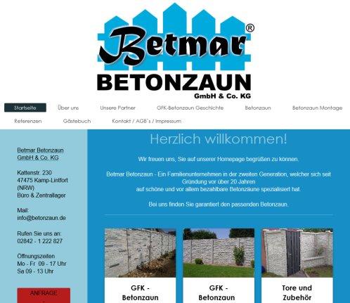 Betmar Startseite Betmar Betonzaun Rheinberg