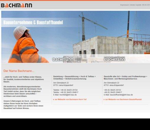 Bauunternehmen Jena bachmann hoch tief und bachmann hoch jena