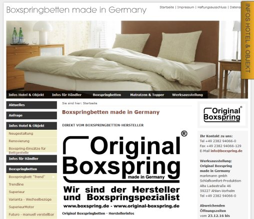 Original Boxspringbetten Made In Germany Boxspring Ahlen