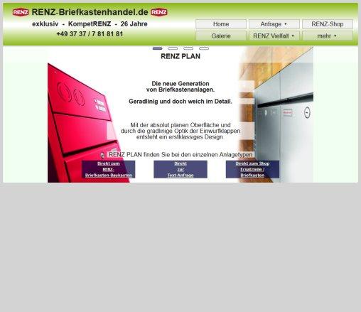 RENZ Briefkastenanlagen Von Renzbriefkastenhandelde Renz Rochlitz