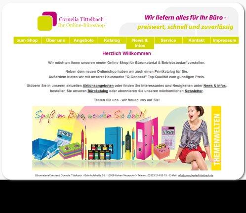 Bürobedarf Tittelbach Onlineshop Onlineshop Hohen Neuendorf