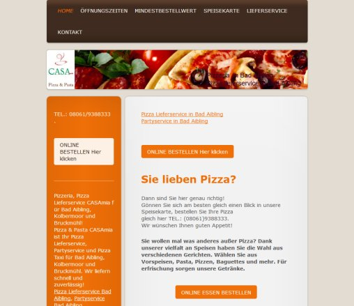 Casa Bad Aibling pizza lieferservice bad aibling casamia pizza bad aibling