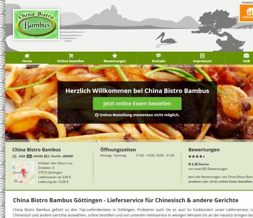 China Bistro Bambus Gottingen Bambus Berlin