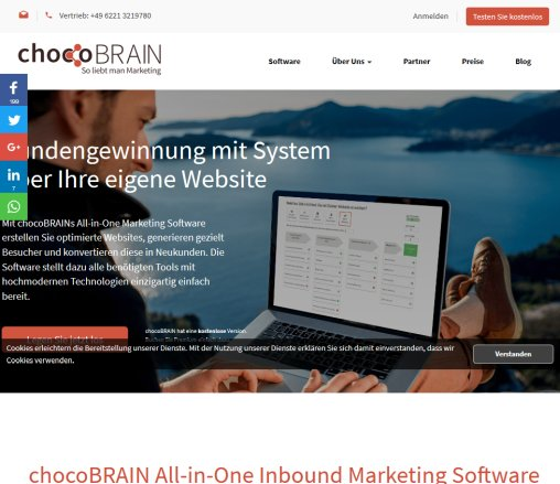chocoBRAIN Inbound Marketing GmbH & Co.KG Öffnungszeit