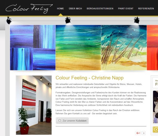 Paint Events  Dekorbilder  Büroausstattung   colour feeling Christine Napp  Öffnungszeit
