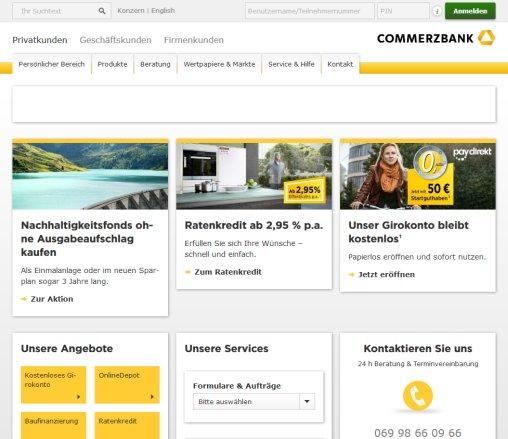 Öffnungszeit Commerzbank