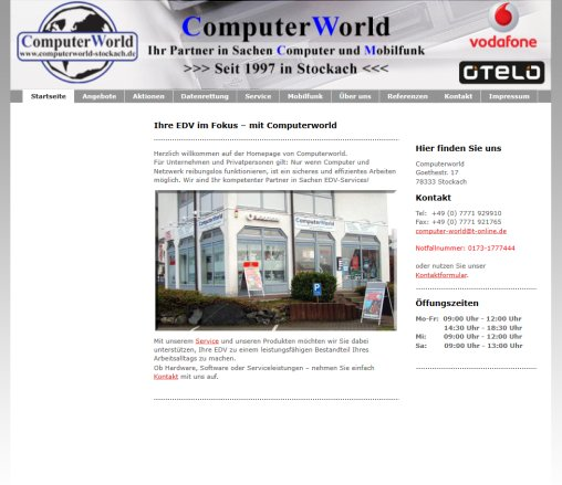 Computer  Stockach  Computerworld Stockach  Öffnungszeit