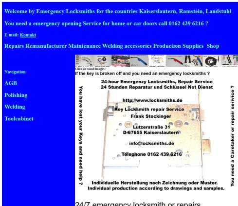 Welcome by Emergency Locksmiths for the countries Kaiserslautern, Ramstein, Landstuhl Öffnungszeit