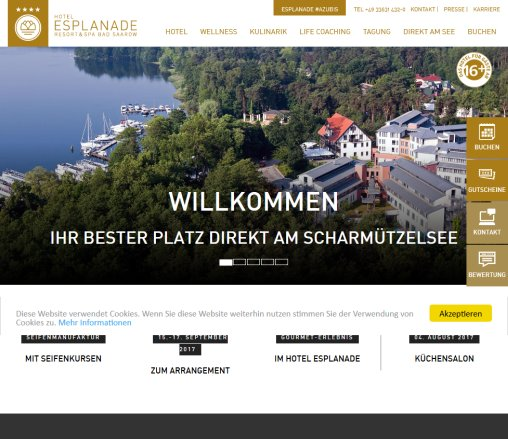 Wellnesshotel am Scharmützelsee in Brandenburg ? Hotel Esplanade Resort  Spa  Bad Saarow Bad Saarow GmbH Öffnungszeit