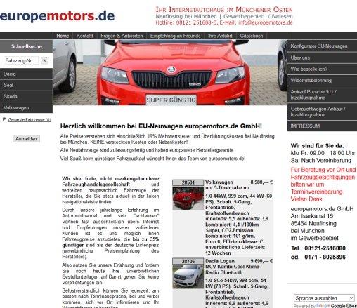 Home EU Neuwagen Reimport › Kw Finsing Eu Wagen Rennerod on