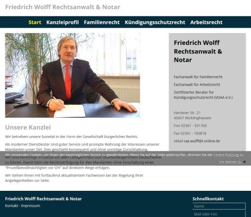Rechtsanwalt Und Notar Friedrich Wolff Fachanwalt Düsseldorf