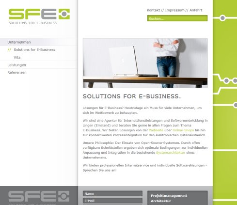 SFE Solutions for E-Business, Internetagentur und Softwareentwickler  Öffnungszeit