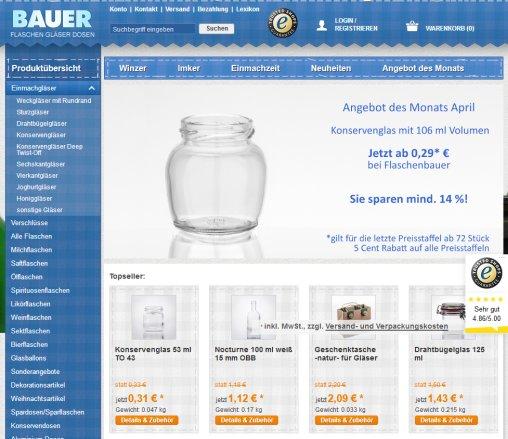 Flaschenbauer Shop Für Versand Tamm