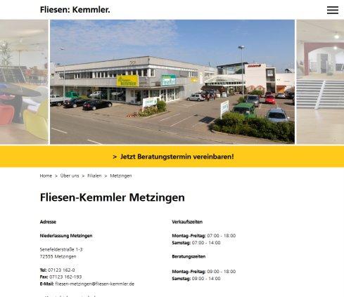 Fliesen Kemmler Niederlassung Metzingen Baustoffe Metzingen