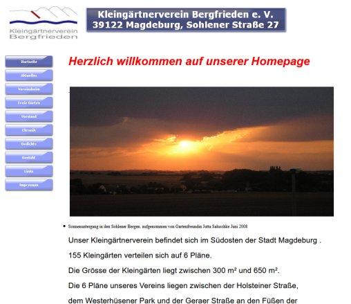 Kgv Bergfrieden Mdde Kleingärten Magdeburg