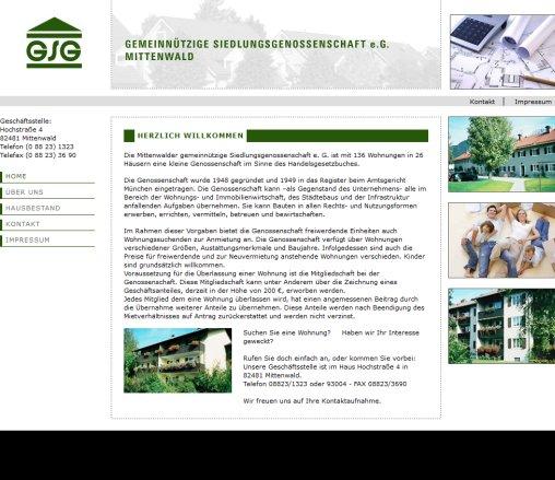Gemeinnützige Siedlungsgenossenschaft Eg Mittenwald