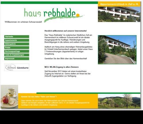 Ferienwohnungen Im Haus Rebhalde In Umgebung Zell Am Harmersbach