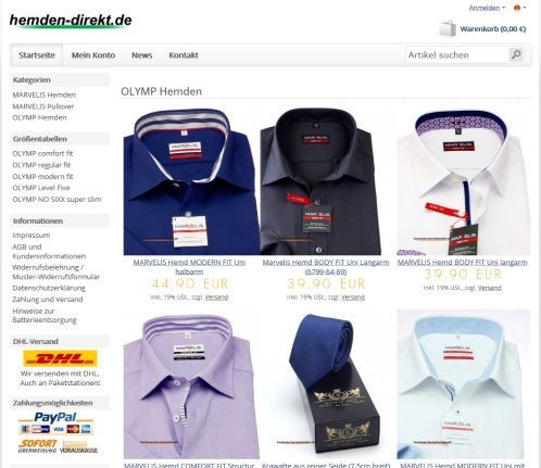 OLYMP Hemden › Olymp Zell unter Aichelberg