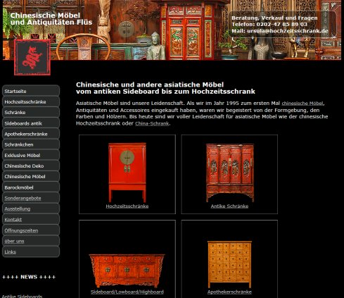 Asiatische Möbel Ursula Flüs Antiquitäten Wuppertal