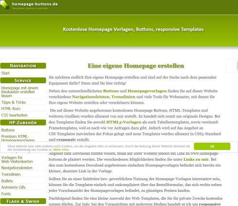 Kostenlose Homepage Vorlagen (Homepagevorlagen) › Templates