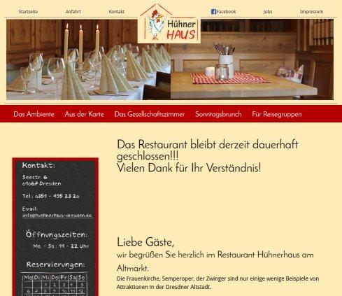 Restaurant Hühnerhaus in Dresden › Küche Dresden