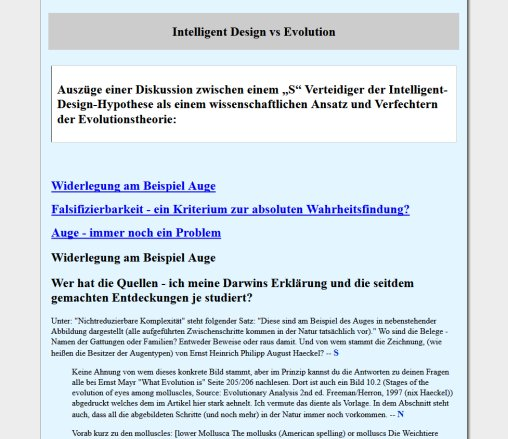 Intelligent design vs Evolution | Design ohne Designer? | Evolution  Öffnungszeit