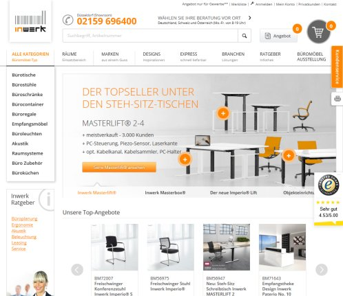 Büromöbel reduziert bis 60%* › Inwerk Meerbusch