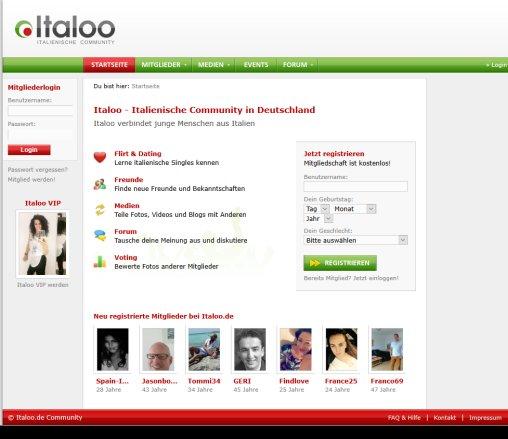 Italien Dating-Websites