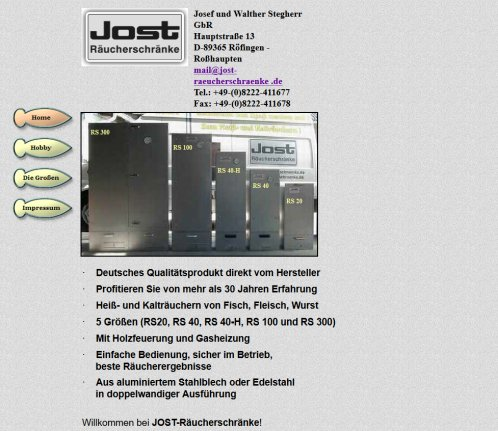 Großzügig Jost Räucherschrank Ideen - Innenarchitektur-Kollektion ...