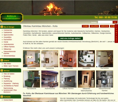 kolla kachelofen und kaminbau kachelofenbau m nchen. Black Bedroom Furniture Sets. Home Design Ideas