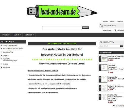load-and-learn.de: Arbeitsblätter für die Schule › Arbeitsblätter Feucht
