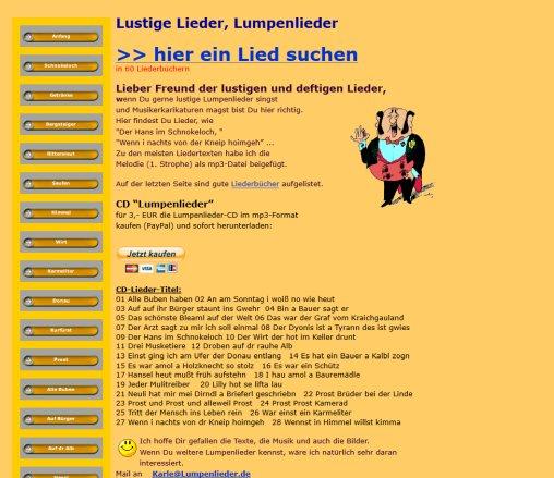 Lustige Liederliche Lieder Lumpenlieder Lumpenlieder Vollmersweiler