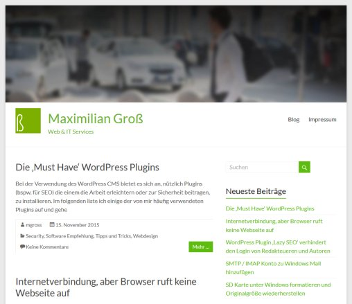 Webdesign  IT Services Maximilian Groß   Maximilian Groß   Maximilian Groß  Öffnungszeit