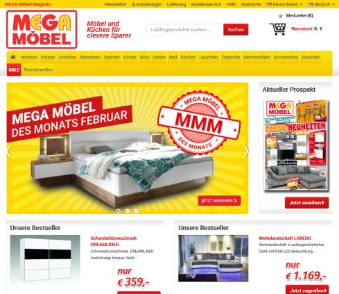 mega m bel sb gmbh m belfachmarkt kehl. Black Bedroom Furniture Sets. Home Design Ideas