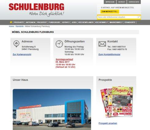 Möbel Schulenburg Gmbh Möbelhäuser Flensburg