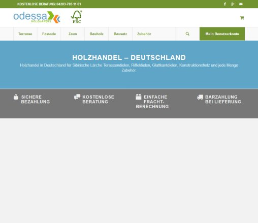 Odessa Holzhandel Holzhandel Deutschland Lärche Stuhr
