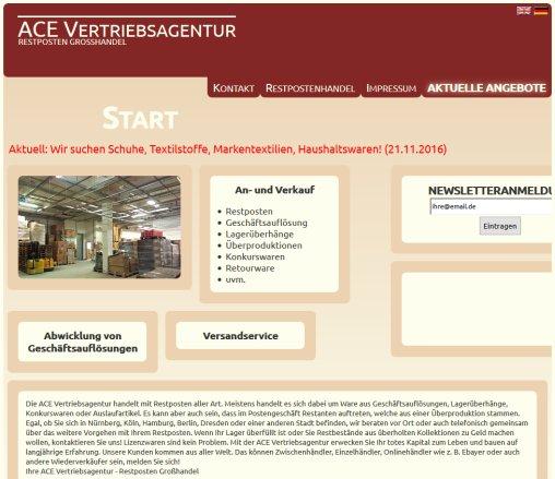 Ace Vertriebsagentur Restposten Restposten Nürnberg