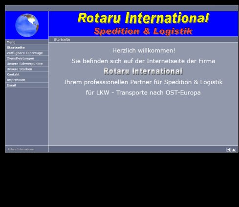 Transporte Rumänien Spedition und Logistik Rotaru INTERNATIONAL Transporte nach Osteuropa  Öffnungszeit