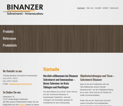 Schreinerei Tübingen schreinerei binanzer in 72127 kusterdingen binanzer kusterdingen