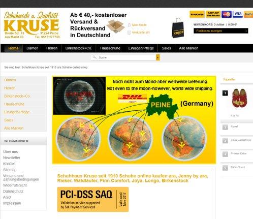 Schuhhaus Kruse seit 1910 ara Schuhe online shop