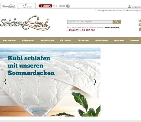 Seidenland Online Shop Seiden