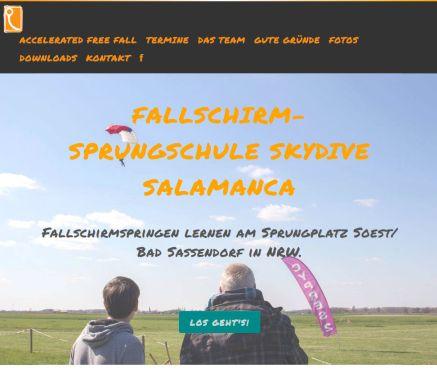 Fallschirmsprungschule Skydive Salamanca Am Sprungplatz