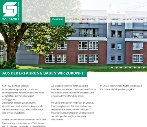 Bauunternehmen Viersen hochbau tiefbau kanalbau solbach viersen