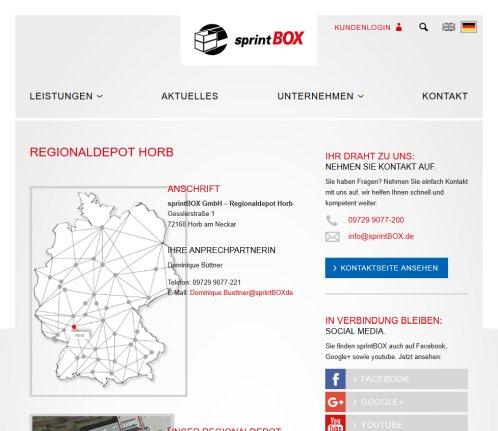 Sprintbox gmbh regionaldepot horb logistik horb am neckar for Depot freudenstadt