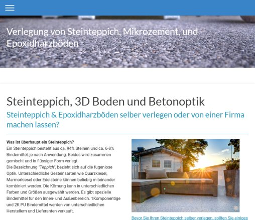 Steinteppich Schulungen Firmen › Steinteppich Monheim am Rhein Monheim