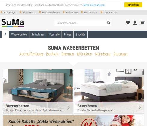 SuMa Wasserbetten günstig im Online › Wasserbetten